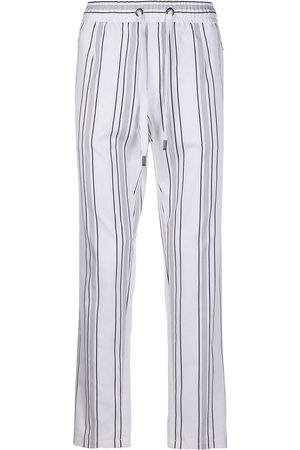 Dolce & Gabbana Drawstring straight striped trousers