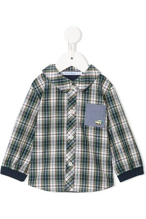 Familiar Check patch-pocket shirt - Multicolour