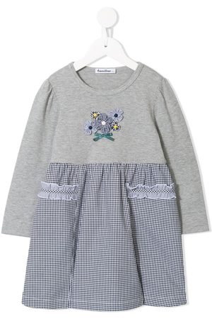 Familiar T-shirt-panelled dress - Grey