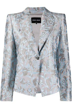 Armani Floral print single-breasted blazer