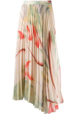 Etro Women Maxi Skirts - Pleated maxi skirt - Neutrals