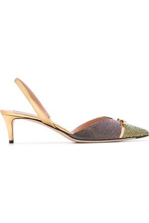 MARCO DE VINCENZO Women Heels - Slingback rhinestone pumps