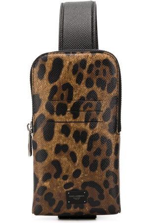 Dolce & Gabbana Leopard print cross-body bag - Neutrals