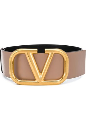 VALENTINO GARAVANI Women Belts - VLOGO reversible belt - Neutrals