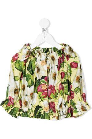 Dolce & Gabbana Girls Blouses - Floral print blouse