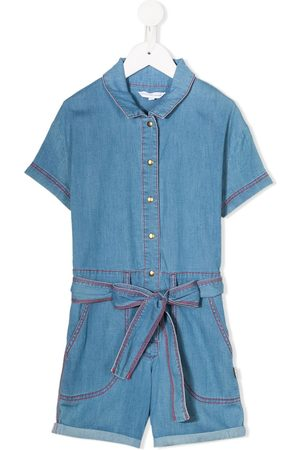 The Marc Jacobs Kids Short sleeved belted playsuit