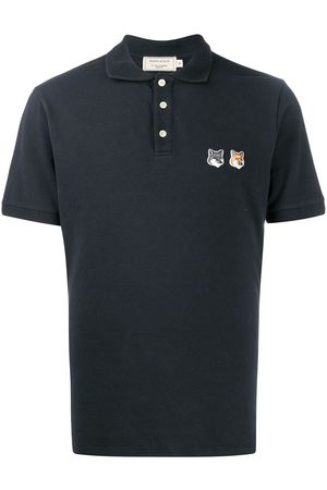 Maison Kitsuné Fox head polo shirt - Grey
