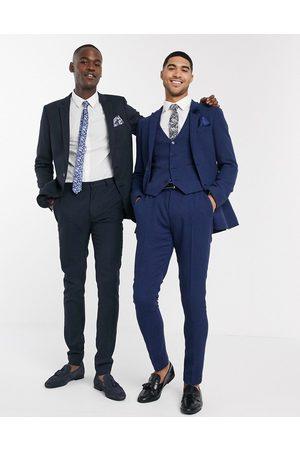ASOS Wedding super skinny suit pants in wool blend micro houndstooth