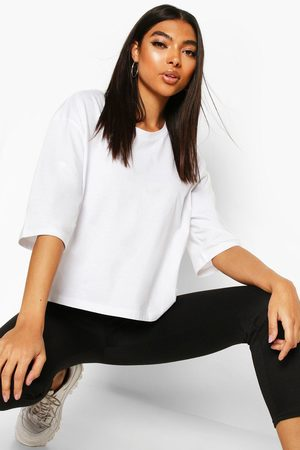 Boohoo Womens Tall Basic Crop T-Shirt - - 2