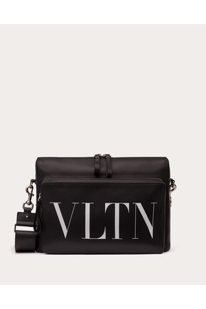 VALENTINO GARAVANI Men Bags - Leather Vltn Messenger Bag Man / Calfskin 100% OneSize