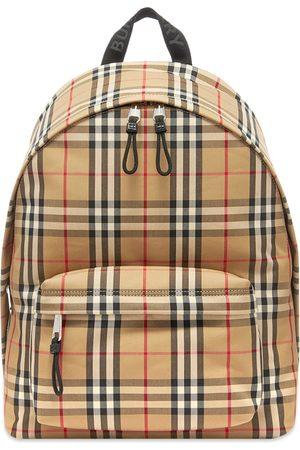 Burberry Men Rucksacks - Jett Check Backpack