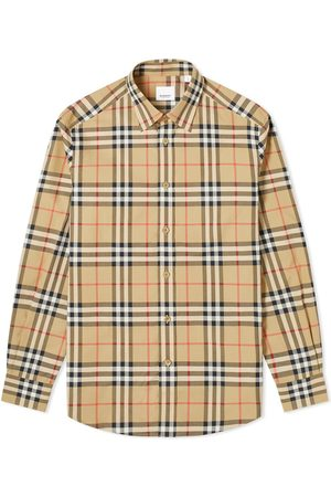 Burberry Men Long sleeves - Caxton Check Shirt