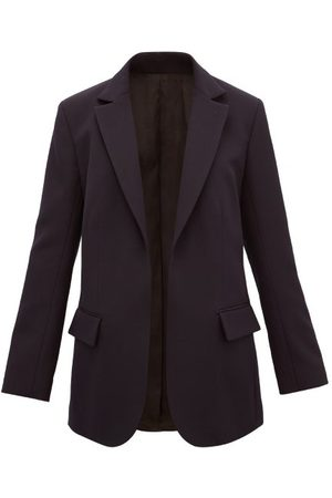 Raey Single-breasted Wool-twill Suit Jacket - Womens - Navy