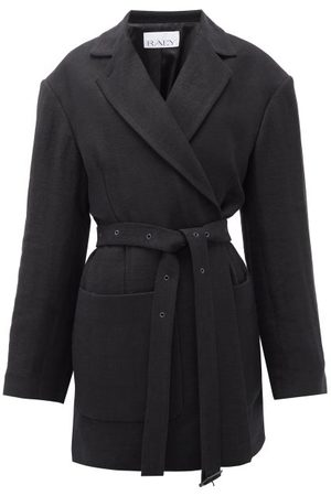 Raey Oversized Belted Cotton-blend Jacket - Womens