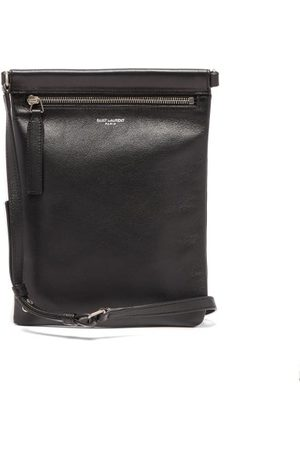 Saint Laurent Logo-print Leather Cross-body Bag - Mens