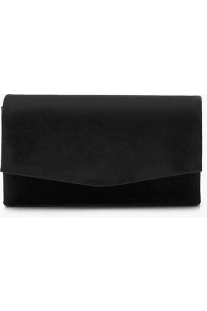 Boohoo Women Clutches - Womens Structured Suedette Clutch Bag & Chain - - One Size