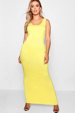 Boohoo Womens Plus Scoop Neck Maxi Dress - - 12
