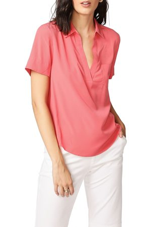 Court & Rowe Women's Collared Short Sleeve Blouse
