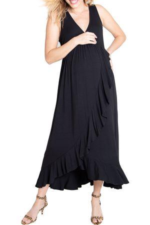 Ingrid & Isabel Women's Ingrid & Isabel Surplice Maternity Maxi Dress