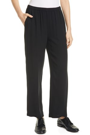 Eileen Fisher Women's Straight Leg Silk Ankle Pants
