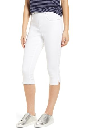 HUE Women's Ultrasoft High Waist Capri Denim Leggings