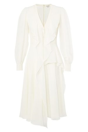 Alexander McQueen Midi dress in silk