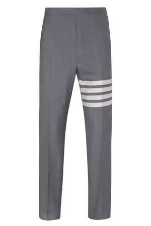 Thom Browne Men Formal Pants - 4-Bar woollen trousers