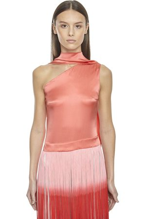‎Taller Marmo‎ Silk Top W/ Two Tone Fringes