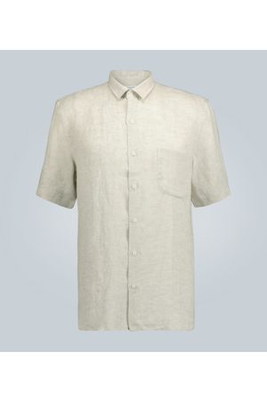Sunspel Short-sleeved linen shirt