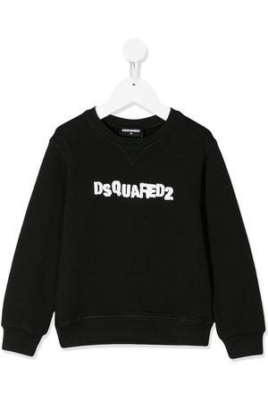 Dsquared2 Boys Hoodies - Stamped logo print sweatshirt