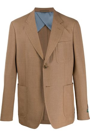 Gucci Single-breasted plain blazer - Neutrals