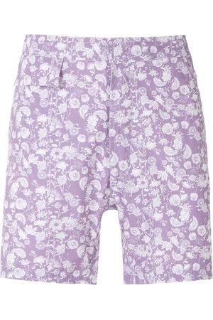 AMIR SLAMA Floral tactel swim shorts