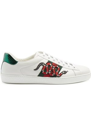 Gucci Men Sneakers - Ace Kingsnake Leather Trainers - Mens - Multi