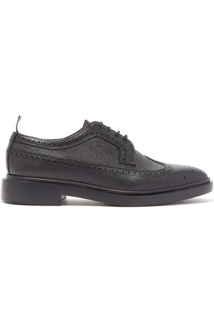 Thom Browne Men Brogues - Pebble Grained Leather Longwing Brogues - Mens