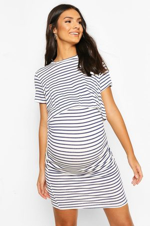 Boohoo Women Bodycon Dresses - Womens Maternity Stripe Nursing Dress - - 4