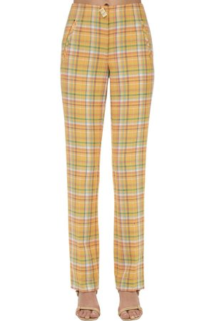 REJINA PYO Norma Cotton Blend Straight Pants