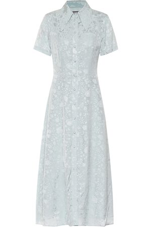 AlexaChung Floral-jacquard dress