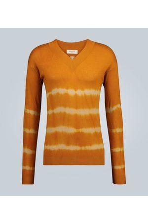 Rochas V-neck tie-dye sweater