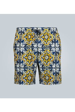 Dolce & Gabbana Tile printed swim shorts