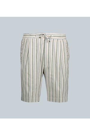 LARDINI Striped cotton-blend shorts