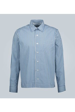 OFFICINE GENERALE Bob striped cotton shirt