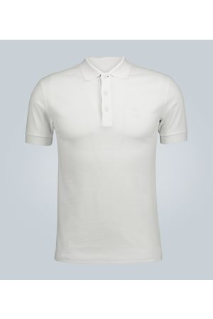 Burberry Short-sleeved cotton polo shirt