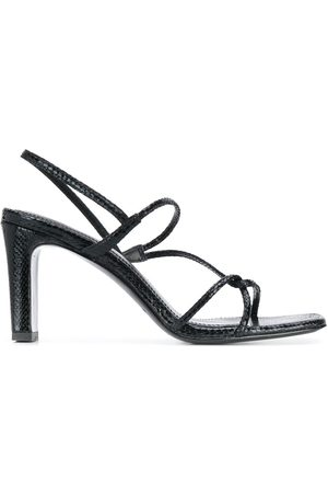 Sandro Snake effect strappy sandals