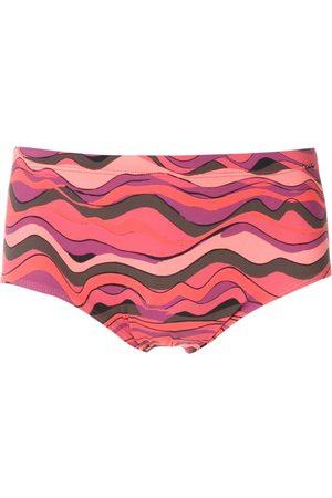AMIR SLAMA Men Swim Shorts - Ondas print trunks