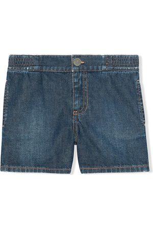 Gucci Gucci Band embroidered denim shorts