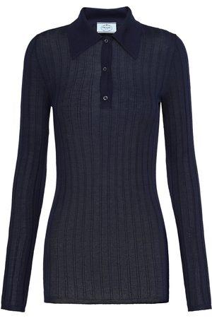 Prada Ribbed knitted polo shirt