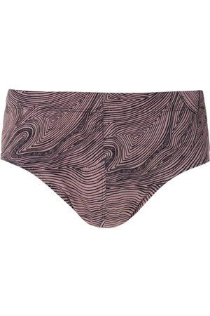 AMIR SLAMA Marajoara print trunks - Neutrals