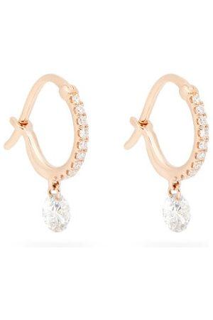 Raphaele Canot Women Earrings - Set Free Diamond & 18kt Rose Earrings - Womens - Rose