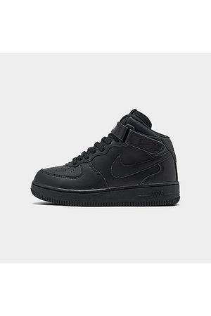 Nike Little Kids' Air Force 1 Mid Basketball Shoes in Size 2.0 Leather