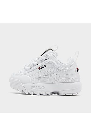 Fila Casual Shoes - Kids' Toddler Disruptor 2 Casual Shoes in White/White Size 10.0 Leather/Suede